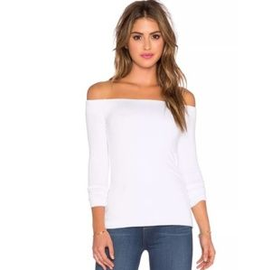Bailey 44 White Off the Shoulder Jacqueline Top